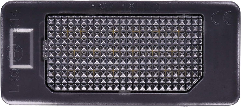 alle passenden Modelle in der Produktbeschreibung! VINSTAR LED Kennzeichenbeleuchtung E-gepr/üft CAN-Bus 18 LEDs je Modul 6000 Kelvin f/ür Audi VW SEAT
