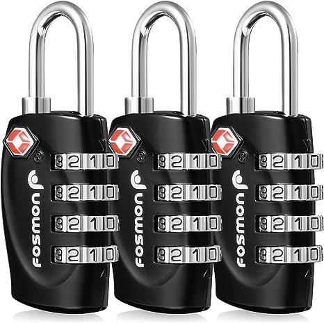 4 Digit TSA Approved Security Padlock Luggage Locks Suitcase Travel Combination