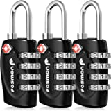 Suitcase Locks, Fosmon (3 Pack) 4 Digit TSA Luggage Locks Combination Padlock for Travel Bag, Suit Case, Lockers, Gym, Bike Lock