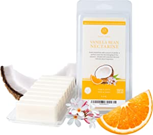 Flippin' Happy - Vanilla Bean Nectarine 100% 5oz Natural Soy Wax Melts, Scented Wax Bars for Electric Wax Warmers and Tart Burners, Candle Warmers and Melters