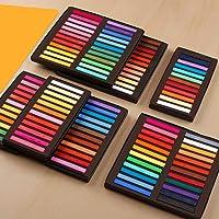 Pastéis de artista Funien, conjunto quadrado pastéis pastéis 12/24/36/48 cores pastel macio seco giz pastel pastel não…