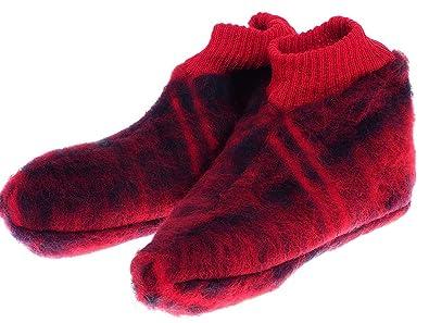 uomo fabbrica famoso marchio di stilisti Val d'Arizes Laine des Pyrénées - Scottish Pantofole in Lana ...