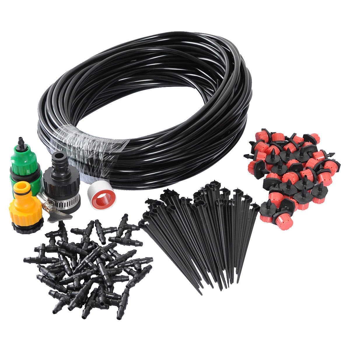 82FT Micro Flow Drip Watering Irrigation Kits DIY Plant Self Watering Garden Hose Irrigation System Kit theBlueStone