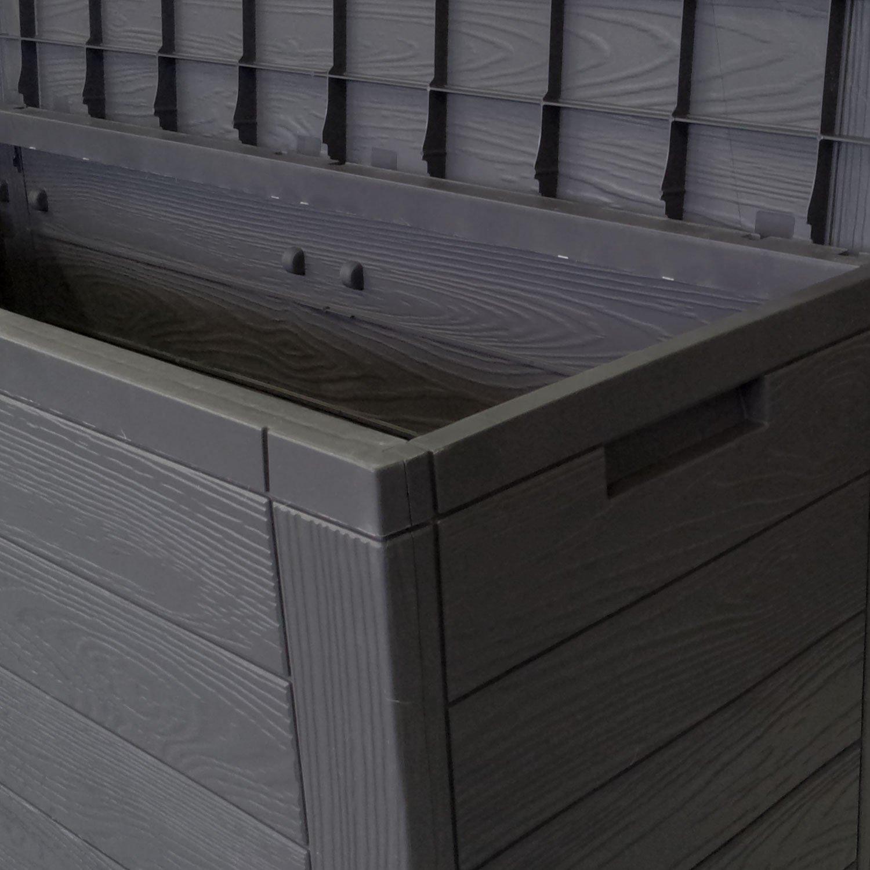 gallery of coffre de rangement en plastique pour le jardin coffre de jardin l xxcm anthracite. Black Bedroom Furniture Sets. Home Design Ideas
