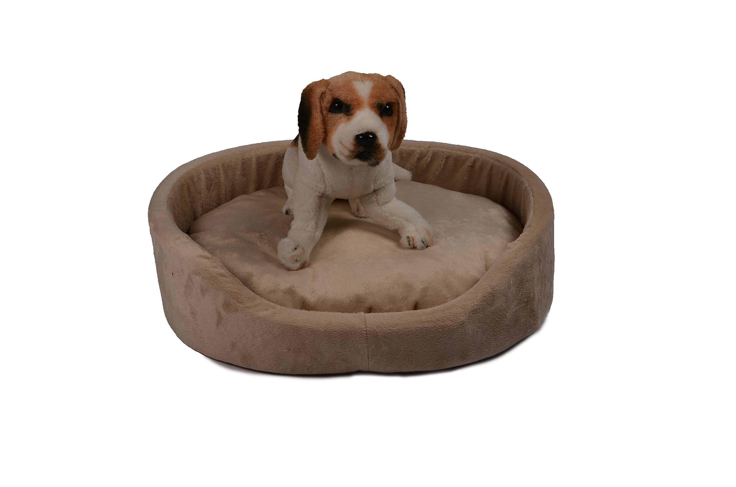 HappyCare Textiles Oval Pet Bed, Medium