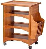 OakRidge Deluxe Rolling Multipurpose Table, Honey