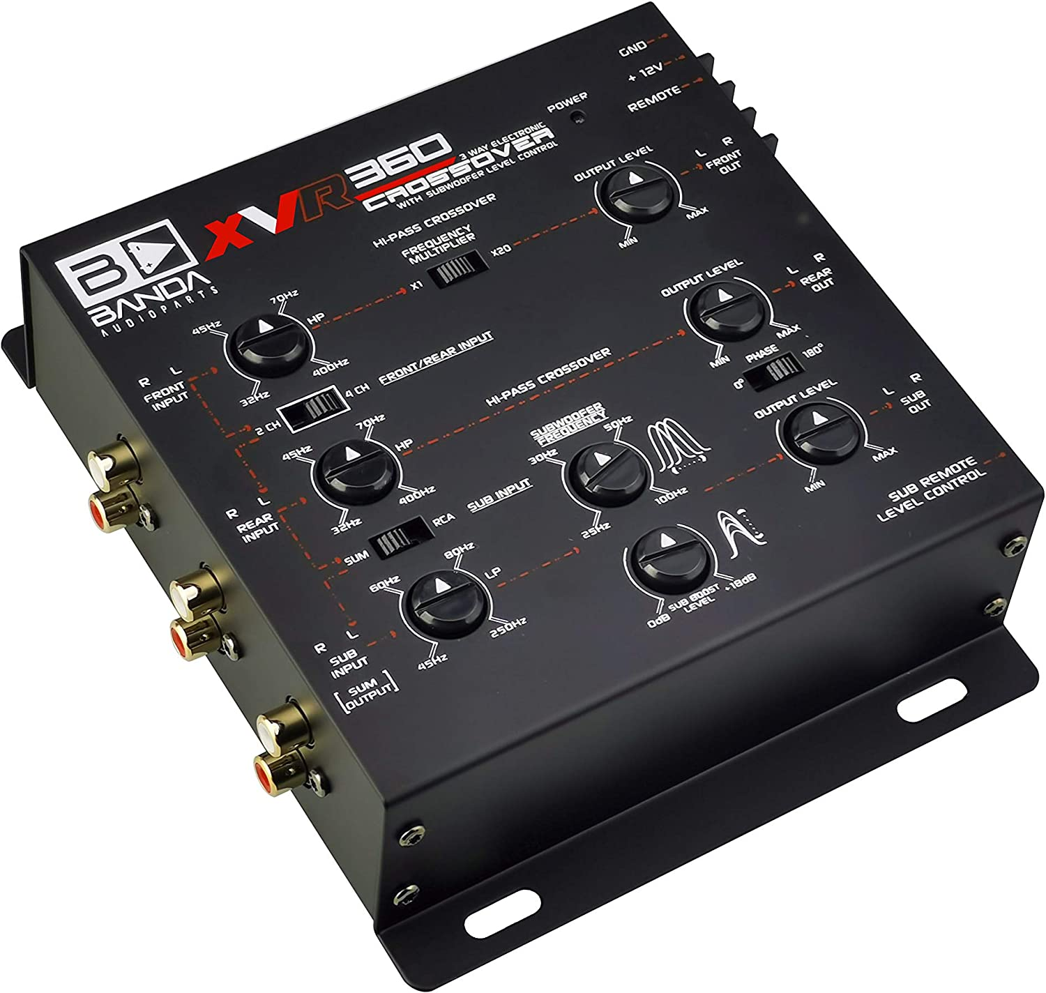 Subwoofer Equalizer BANDA 3 Way Electronic Crossover Accessories ...
