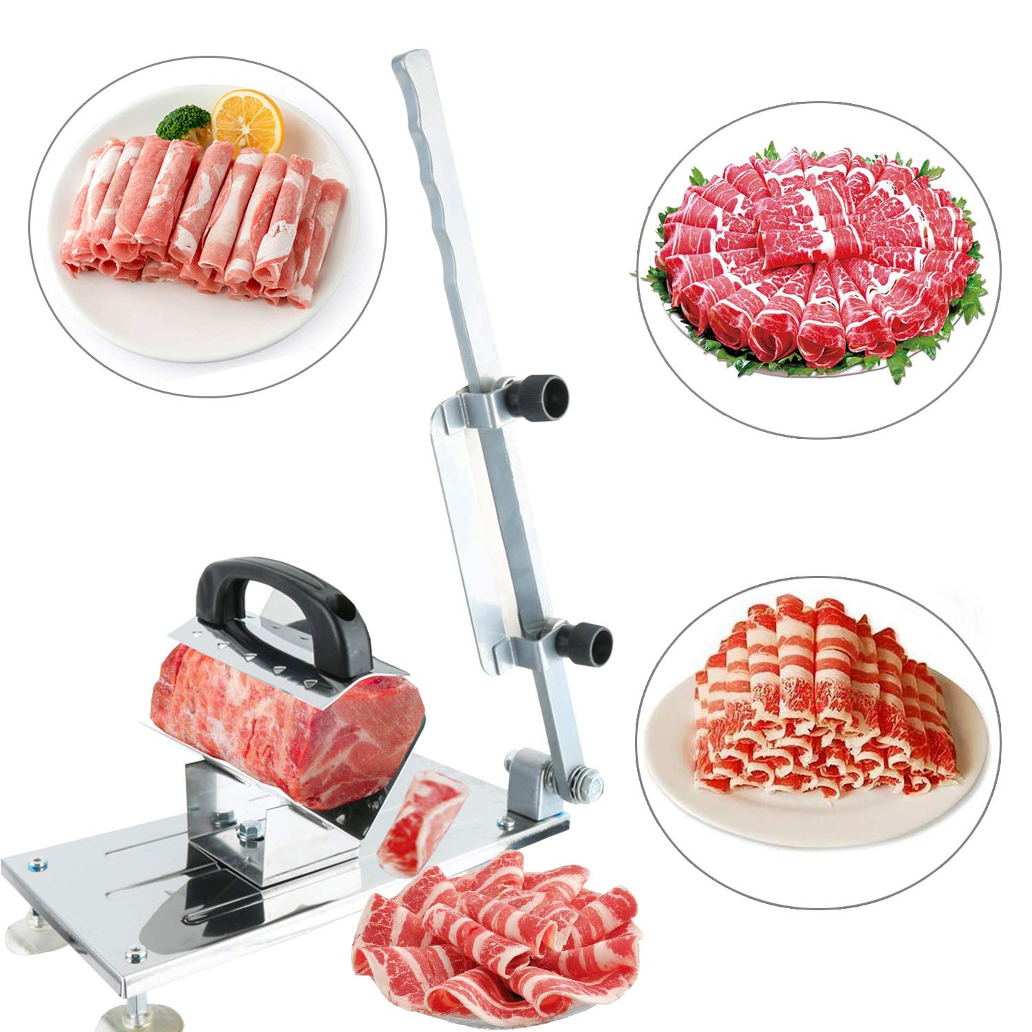YaeGarden Frozen Meat Slicer Stainless Meat Cutter Meat Food Slicer Slicing Machine Food Vegetable Cutter Meat Cleavers Home Kitchen