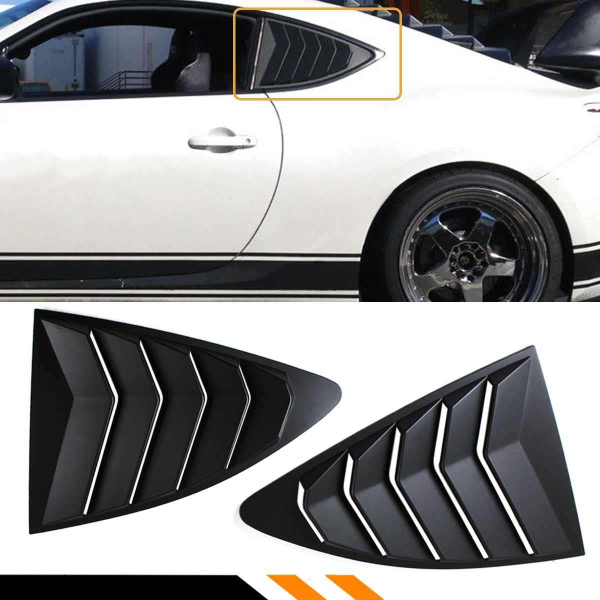 Cuztom Tuning For 2013-2017 Scion FR-S/Toyota 86 & Subaru BRZ ABS 1/4 Quarter Panel Side Vent Window Louver Covers