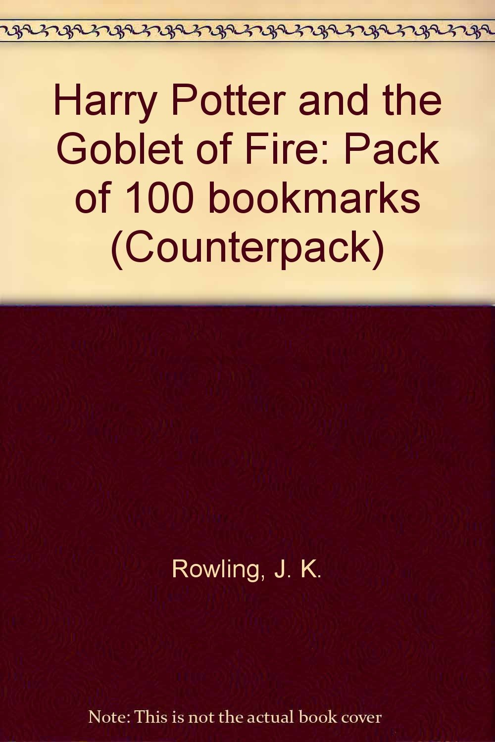 Harry Potter and the Goblet of Fire: Pack of 100 bookmarks ...