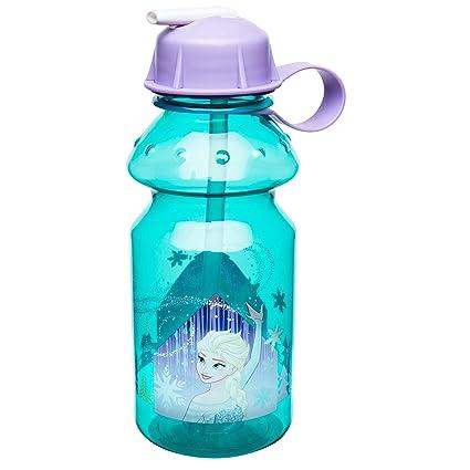 c5c063881a Amazon.com: Zak Designs Frozen 14oz Kids Water Bottle with Straw - BPA Free  with Easy Clean Design, Frozen Girl: Kitchen & Dining