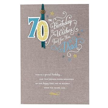 Amazon.com: Papá 70th cumpleaños, tarjeta de felicitaciones ...