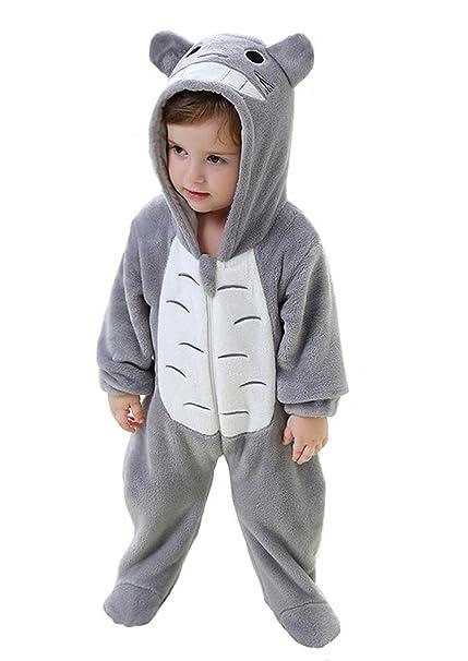 488f6067eaaa Pijama bebe totoro. Auspicious beginning Traje de bebé Suave y cómodo  Totoro de Dibujos Animados para Dormir