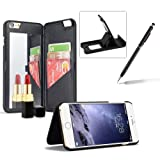 Black Hard Case for iPhone 6S,Wallet Cover for