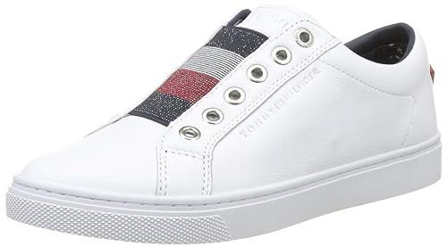 Tommy Hilfiger Fw0fw01903, Zapatillas para Mujer, Blanco (White), 36 EU: Amazon.es: Zapatos y complementos