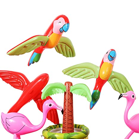 Amazon.com: 4 Piezas Inflable Parrot Flying Parrot Inflable ...