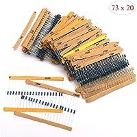 Kit de Surtido de Resistores,Xiuyer 1460 Piezas 73