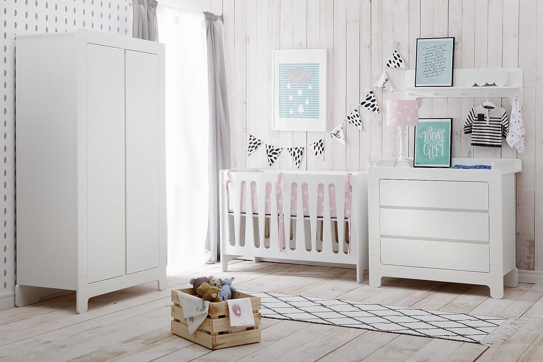 Babyzimmer Kinderzimmer Nicea Weiss Mdf Komplettset A Bett Schrank