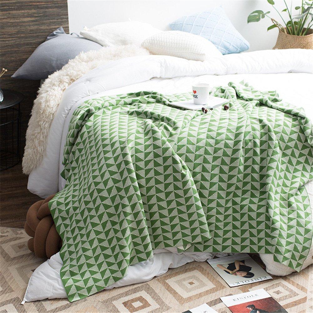 Amazon.com: Azerlee manta de algodón reversible de punto ...