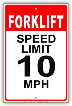 SLOW SPEED LIMIT 10  Aluminum Sign 8 X 12