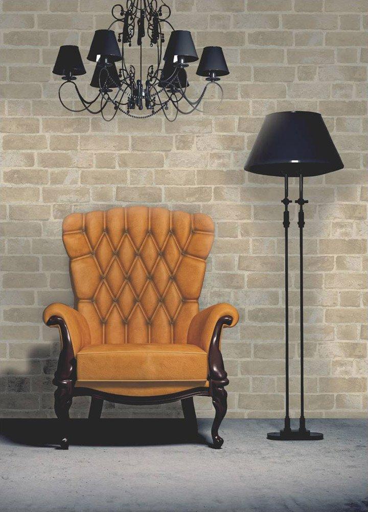 Ladrillo Wallpaper Brewster FD31044 Crema