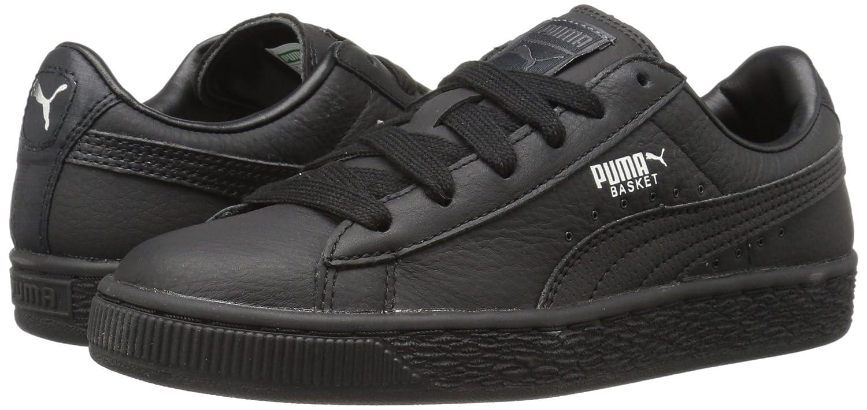 Puma kids' basket classic l bts jr sneaker black puma silver