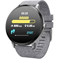 DelicacyIN Smart Wristband Fitness Bracelet with Heart Rate Big Touch Screen Message