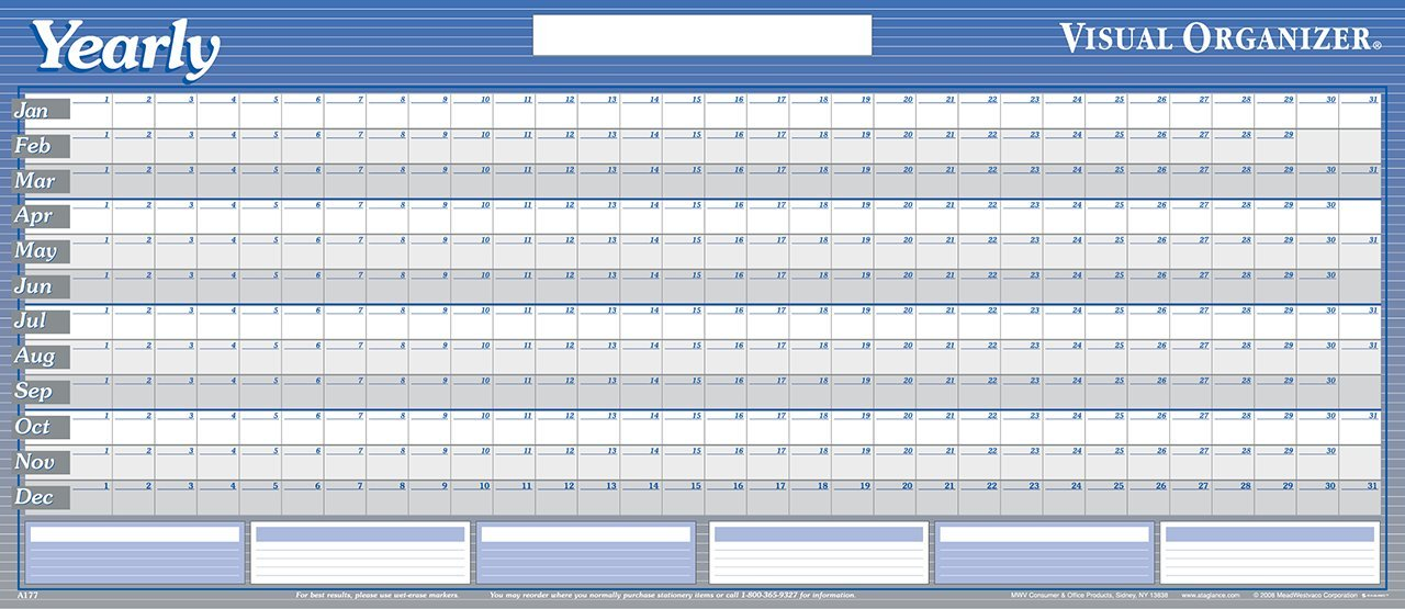 amazon com at a glance a177 large horizontal erasable wall planner