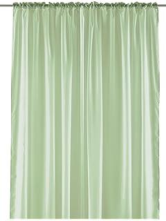 Pastel Sheer Curtain Panel - Elegant Window Long Panel, Beautiful See Through Drapery Panel,