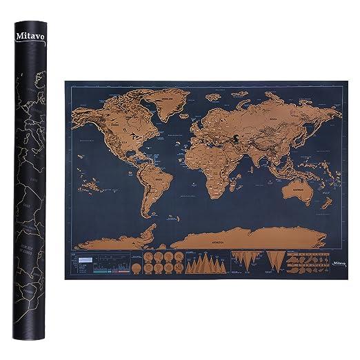 28 opinioni per Mappa da Grattare Mitavo Premium con raschietto ! Carta geografica da grattare