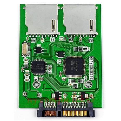 Desconocido Adaptador de 2 Puertos Dual SD SDHC MMC Raid a SATA ...