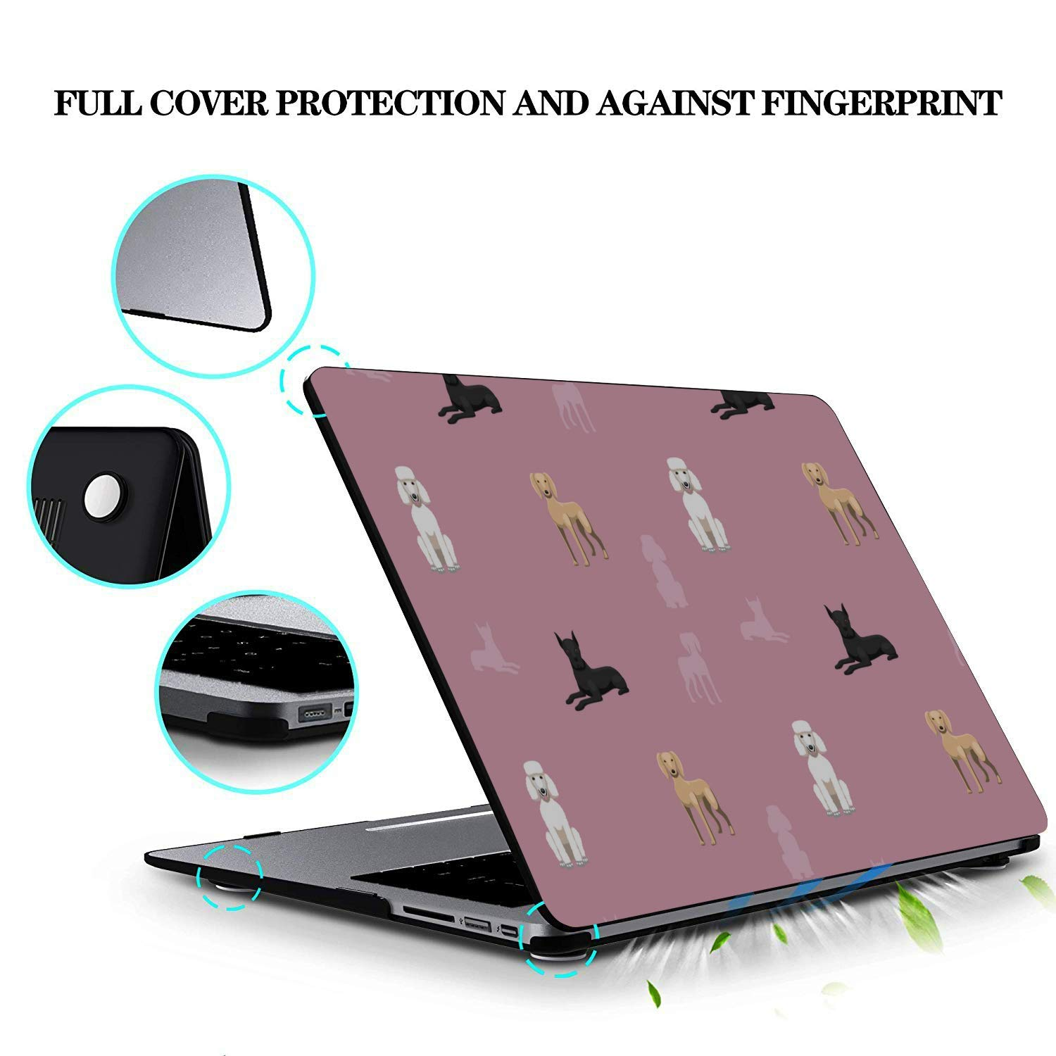 2018 MacBook Pro Case Smart Fierce Animal Pet Great Dane Plastic Hard Shell Compatible Mac Air 11 Pro 13 15 Mac Pro Cover Protection for MacBook 2016-2019 Version