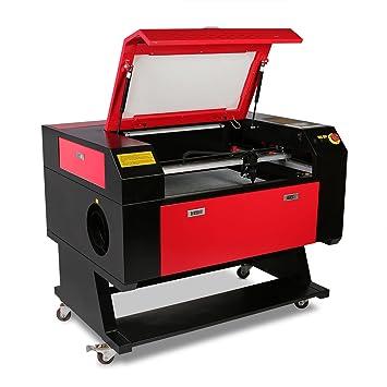 HPcutter Máquina de Grabado Láser Máquina de Grabado Laser Engraving Machine 60 W Corte con Pantalla a Color Tubo del Láser (60W): Amazon.es: Hogar