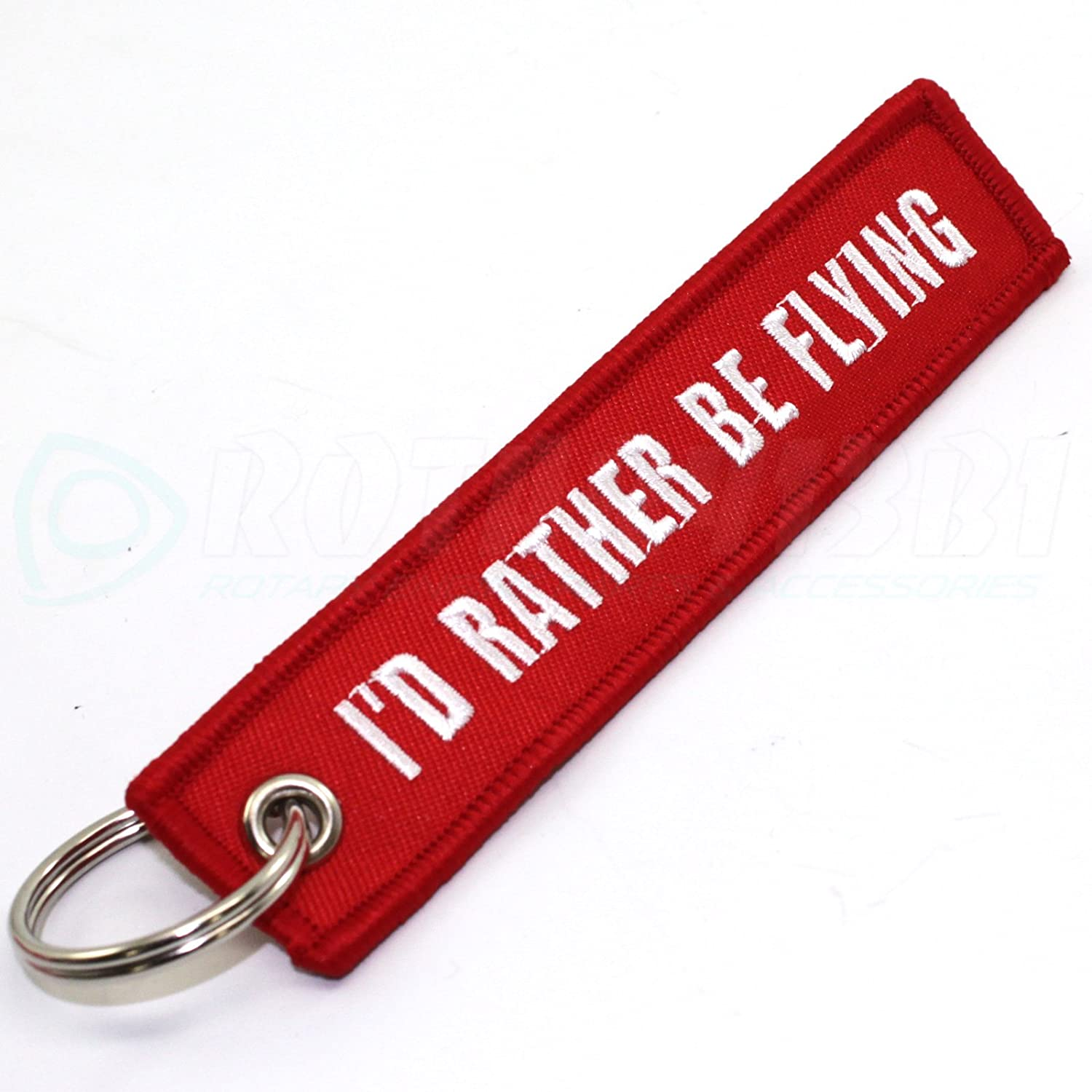 Rotary13B1 - ID RATHER BE FLYING - Keychain