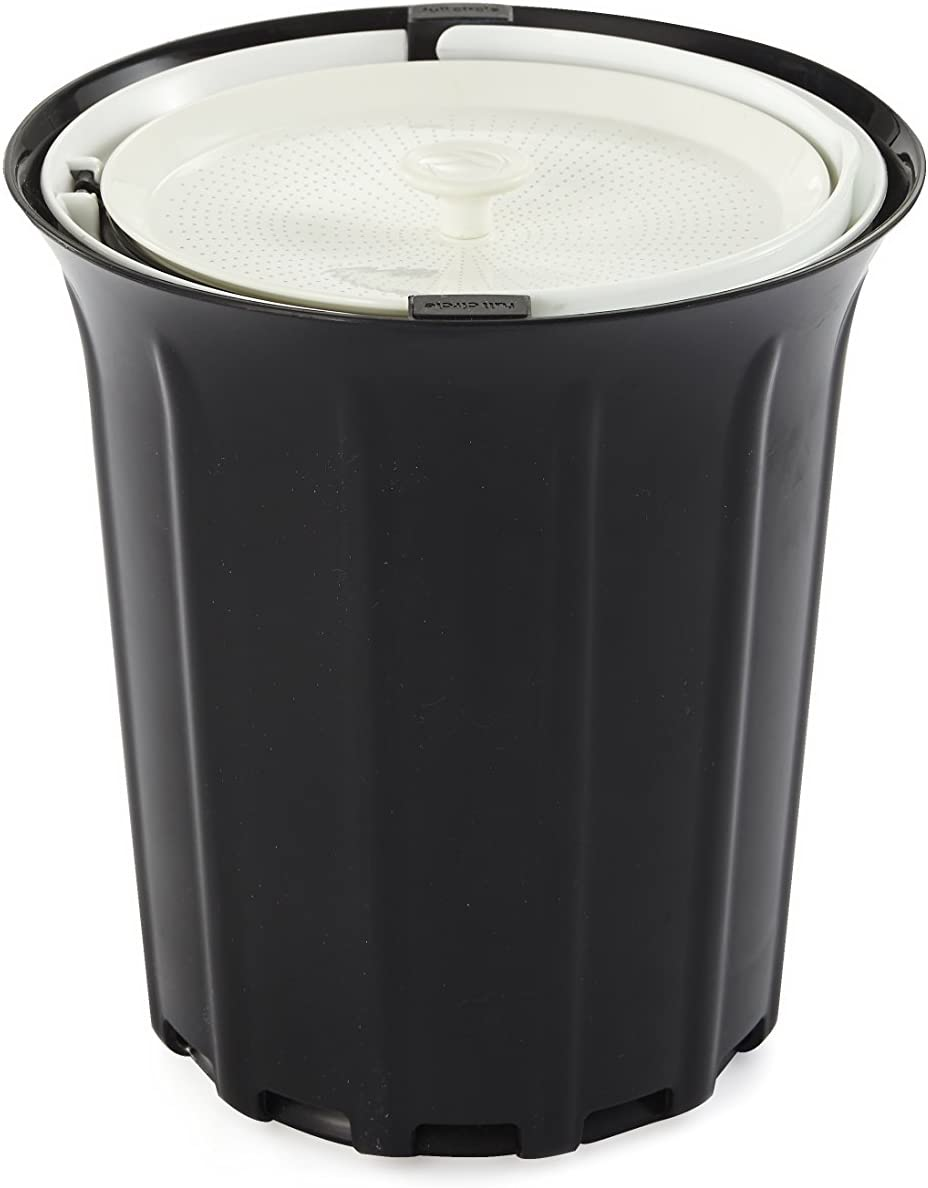 Full Circle Breeze Odor-Free Countertop Compost Bin, Black and White