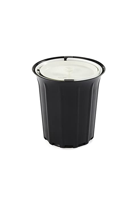 full circle breeze odorfree countertop compost bin black and white