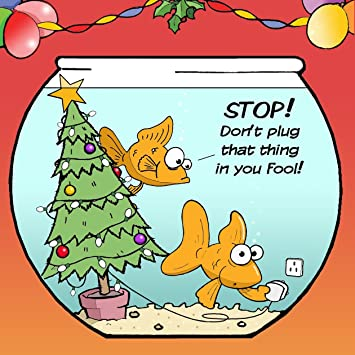 Twizler merry christmas card with goldfish christmas tree and plug twizler merry christmas card with goldfish christmas tree and plug xmas card happy m4hsunfo
