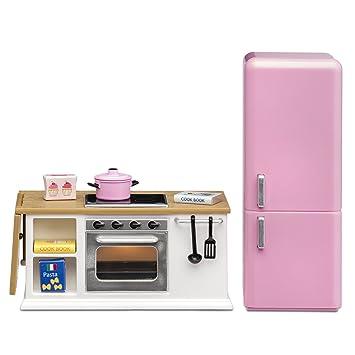 Amazon.es: Lundby 60 - 2027 - 00 Estufa y frigorífico Juego ...