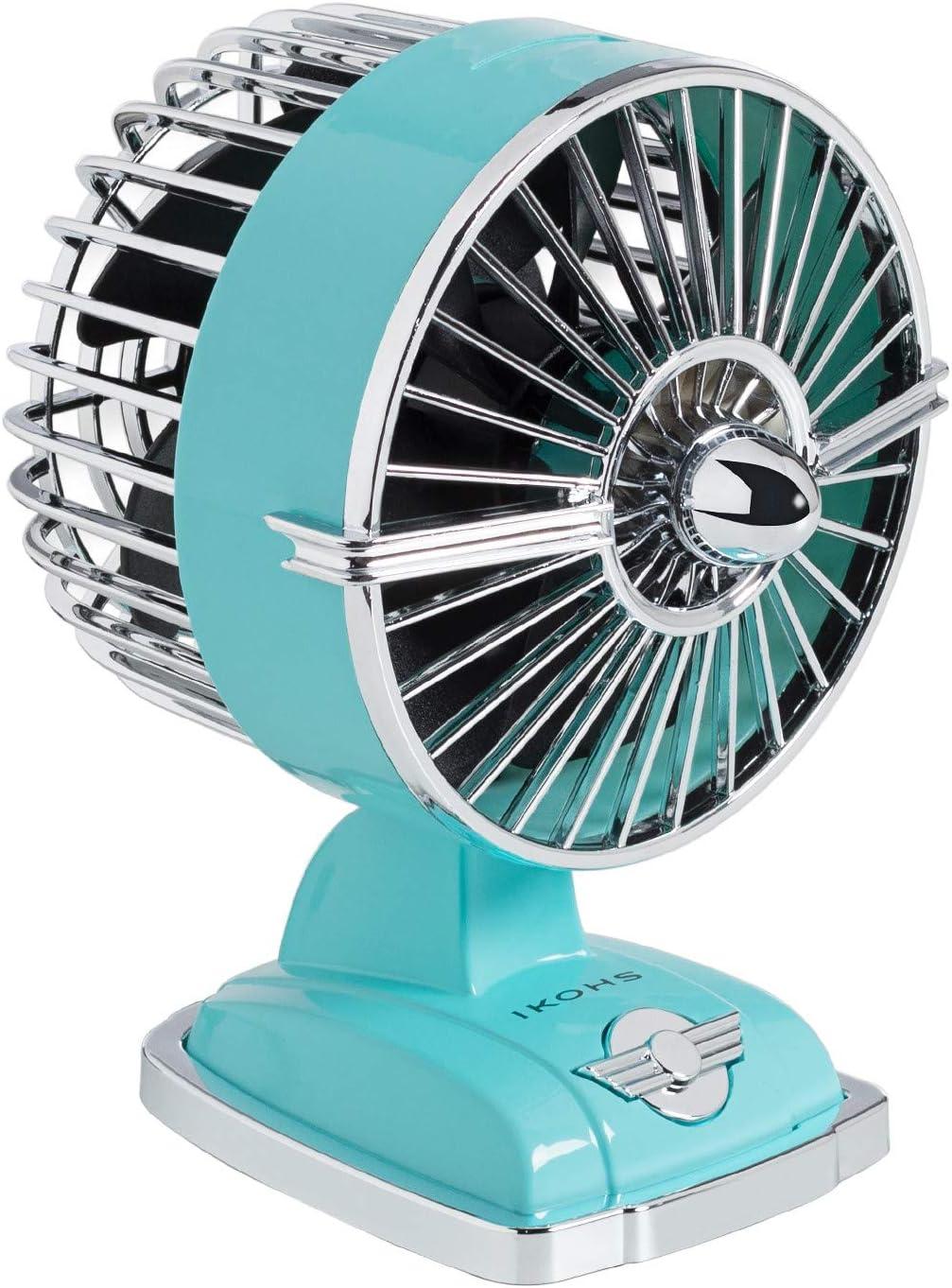 IKOHS Ventilador de Mesa Retro Line VT1511-IK USB 1.5W Capri - (Elige Color)