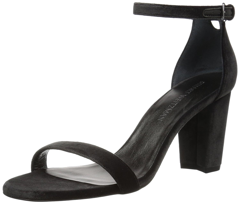 Stuart Weitzman Women's Nearlynude Heeled Sandal B06XPZHYPH 9 B(M) US|Smoke