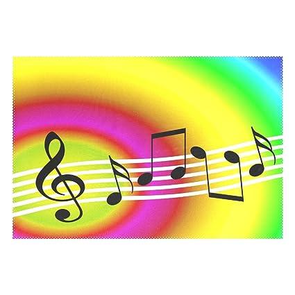 Amazon com: ALAZA Polyester Table Mat Random Musical Symbols