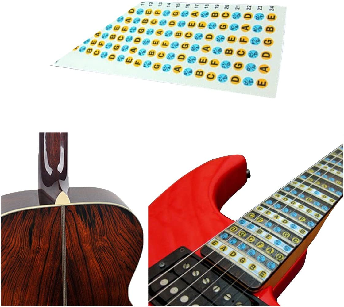 Andifany Adhesivos de Nota de Diapason de Guitarra Pegatina del ...