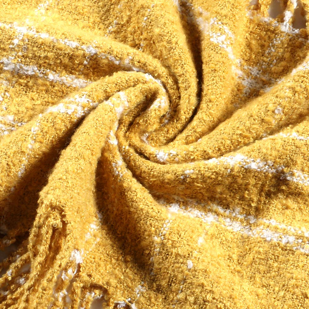 Tacobear Sciarpa Donna Invernale Scozzese Sciarpa Scaldacollo Loop Snood Sciarpa Tartan Sciarpa in Maglia Calda Invernale Sciarpa per Donna Uomo