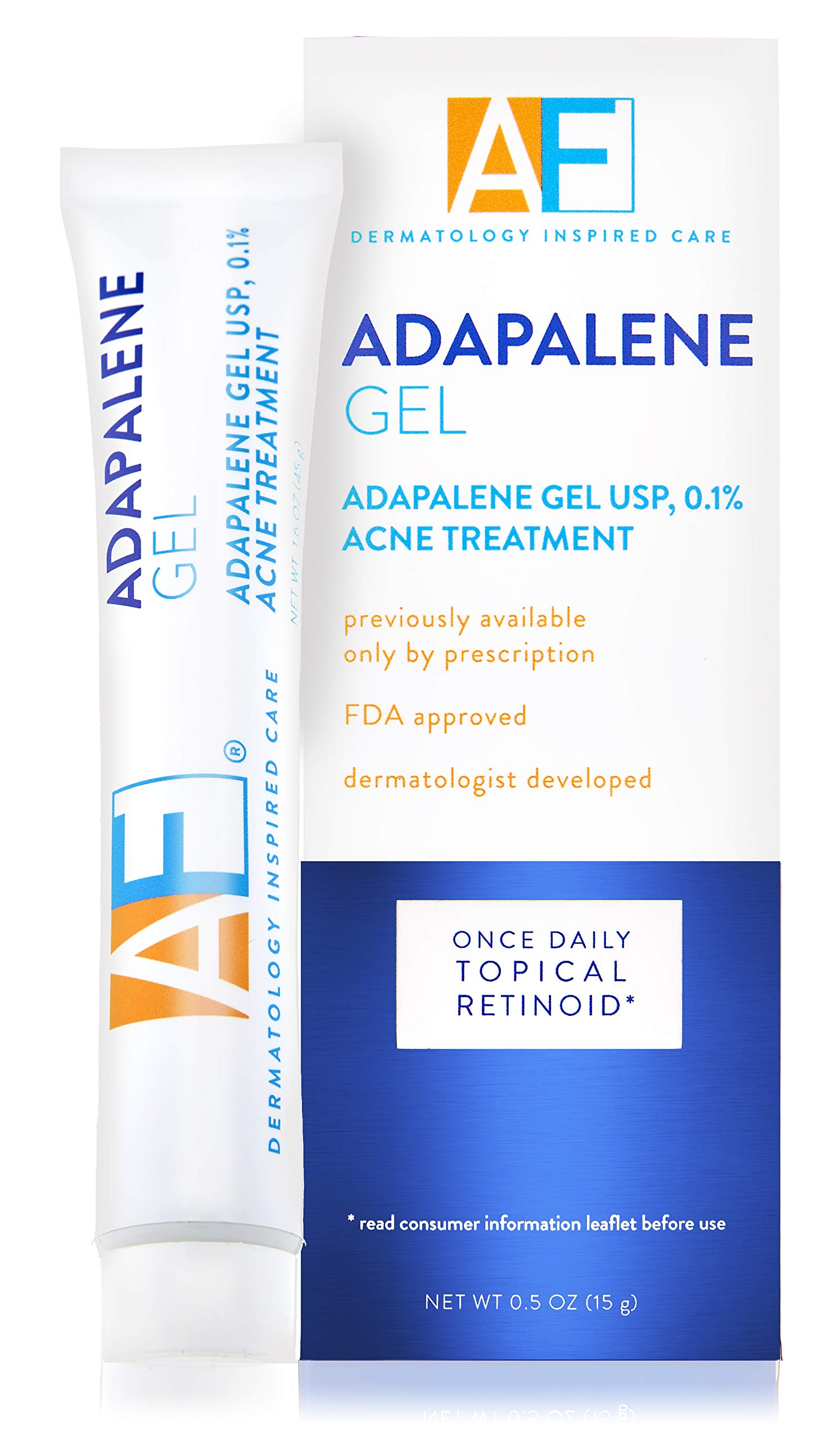 Acne Free Adapalene Gel 0 1 Once Daily Topical Retinoid Acne