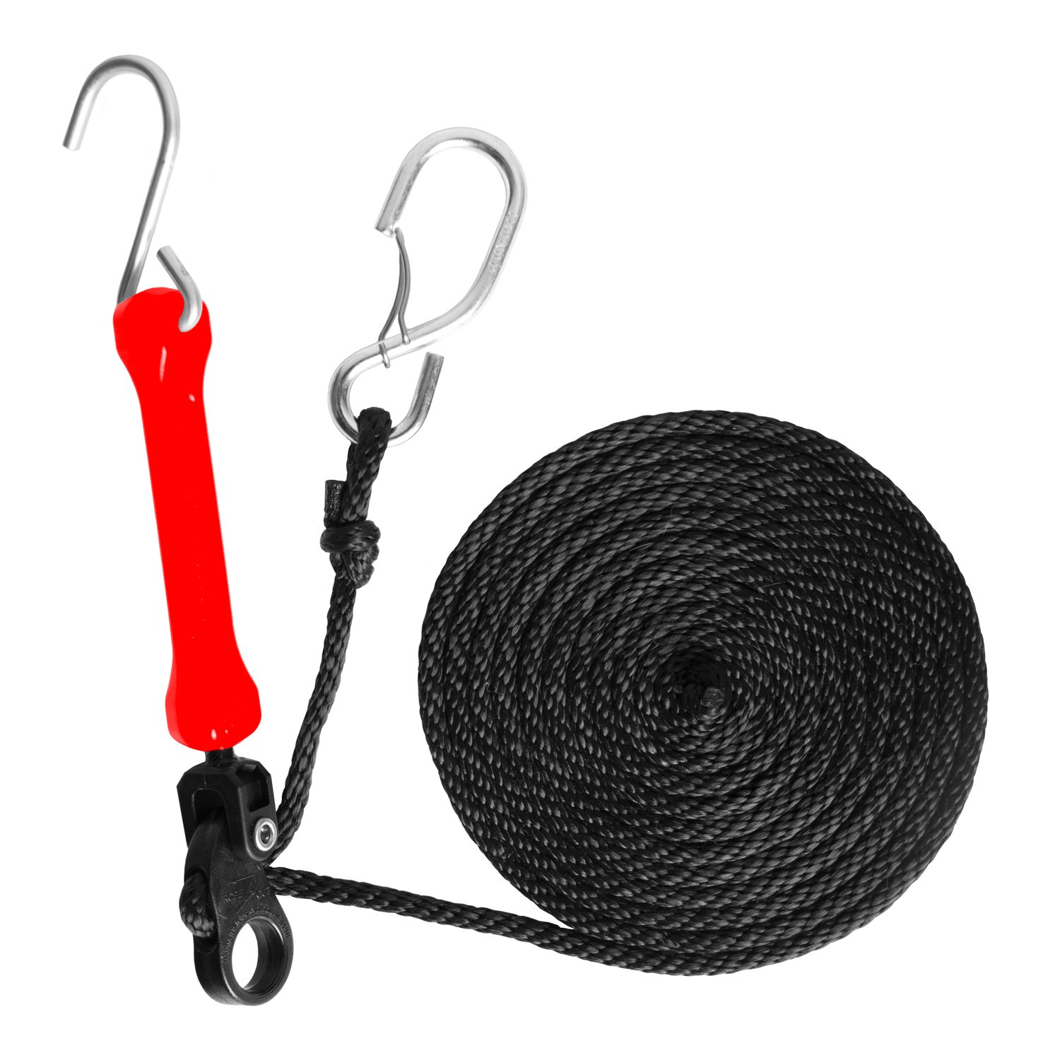The Perfect Bungee by BihlerFlex PTDR Adjustable Bungee Perfect Tie-Down with Spring-Loaded Gated S-Hooks Red 12