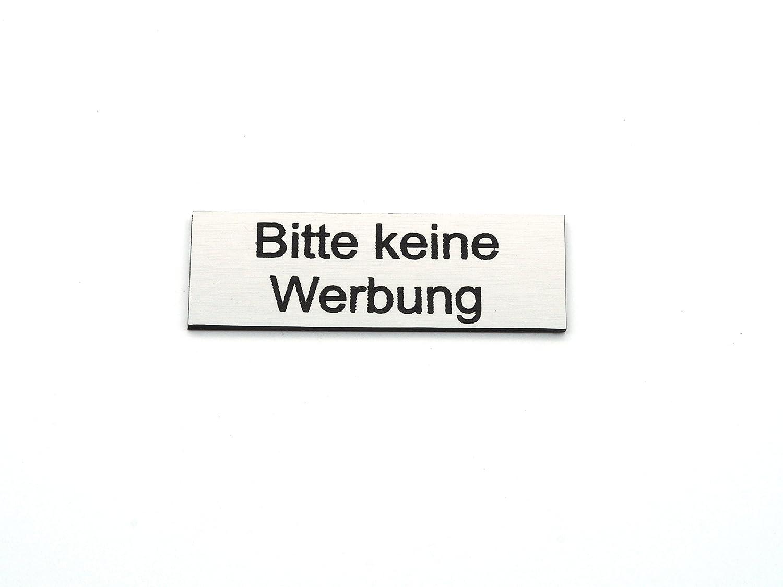 Briefkastenschild STOP - keine Werbung - Zeitungen   Edelstahl-Optik CopterFarm