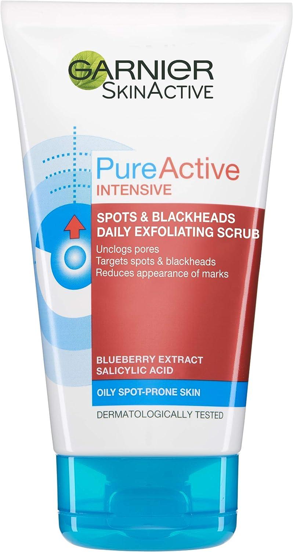 Amazon Com Garnier Pure Active Blackhead Clearing Scrub 150ml Health Personal Care