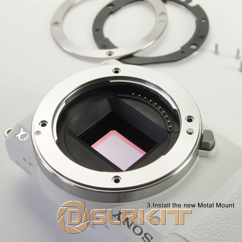 DSLRKIT Metal E-Mount Replacement for Sony NEX E Camera A7 A7R A7RII A5100 A6000 A6300
