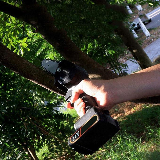 Mini Motosierra para Cortar Madera Sierra De Cadena Inal/ámbrica Recargable Tijeras De Podar Port/átiles Motosierra Motosierra De Mano Inal/ámbrica para Podar Madera