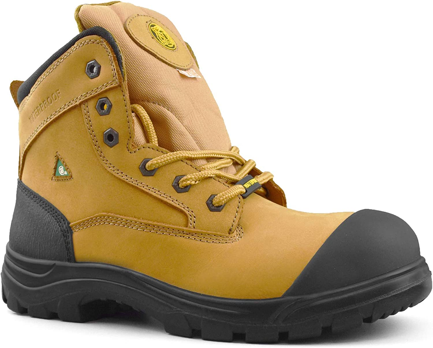 Tiger Mens CSA Steel Toe Waterproof 6 Leather Safety Boots 7666